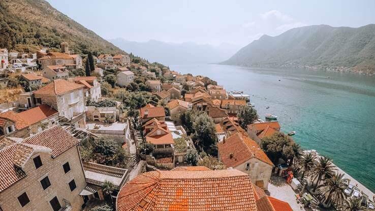 A small coastal town.