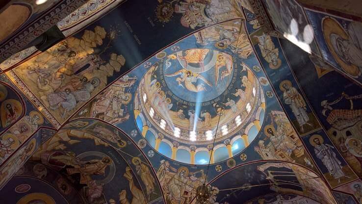 Orthodox fresco motif