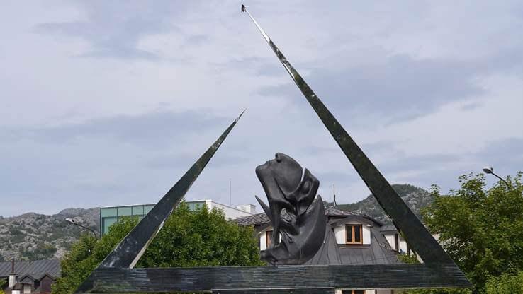 The monument in Cetinje