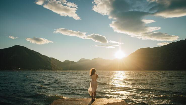 A girl on the seashore